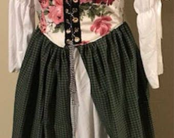 Sweet celtic overdress with chamise and hat