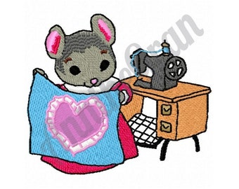 Sewing Mouse - Machine Embroidery Design