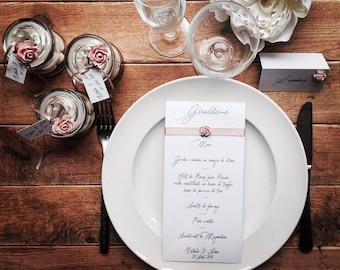 Calligraphy custom wedding menu