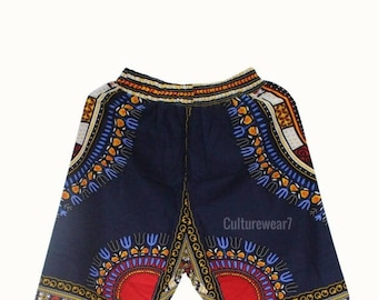 Dashiki Shorts Navy Blue