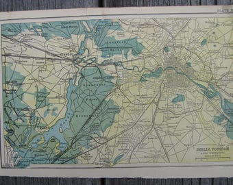 1903-Berlin Vintage Map, Antique-Vintage Printing- Home and Office Decor