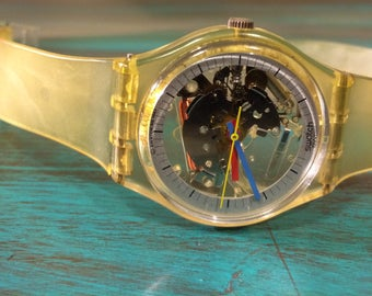 Vintage Swatch Watch. 1986 Jelly Fish