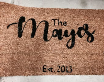 Personalized doormat / custom doormat / wedding gift / engagement gift / anniversary gift / housewarming