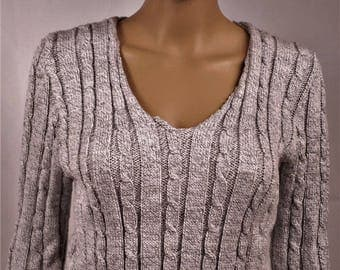 Pullover Wool Sweater, winter sweater, warm sweater, pullover v-neck sweater winter sweater is hand knitted sweater gray sweater, sweater T38 0201