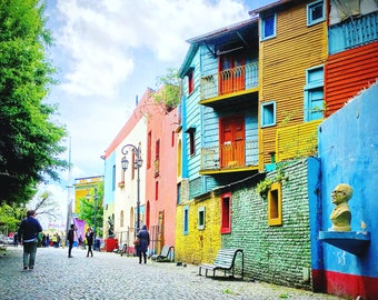 La Boca Barrio Buenos Aries Argentina Photograph Print, Colorful Buiding Architecture, Home Decor, Wall Art, Travel Photography, Wanderlust