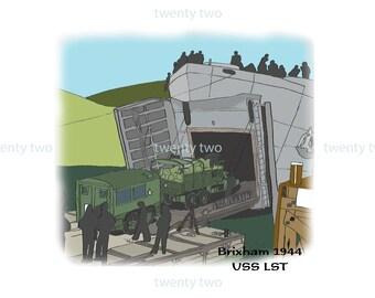 Loading Of A Landing Ship (WW2) - Canvas