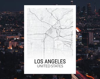 Los Angeles California USA Map Print