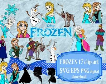 Frozen svg, Clipart, Frozen Princess Anna and Elsa svg, Cartoons clipart svg, Princess Anna and Elsa, Png, eps, Cartoons clipart, Clip art