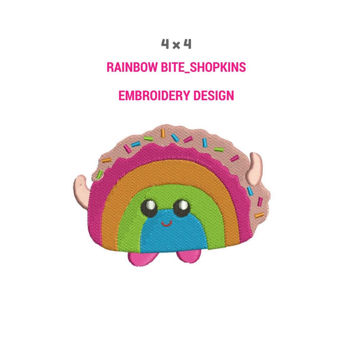 Rainbow Bite Embroidery Design