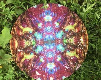Magic kaleidoscope plexiglass decor disc & table top ** outdoor / indoor **