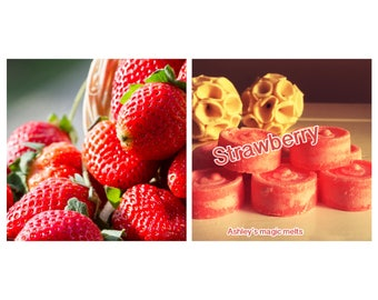 Strawberry | wax melts | highly scented wax | scented candle | wax tarts | fruit scent | soy wax | sample