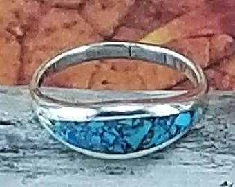 silver and turquoise band, silver statement, turquoise statement,