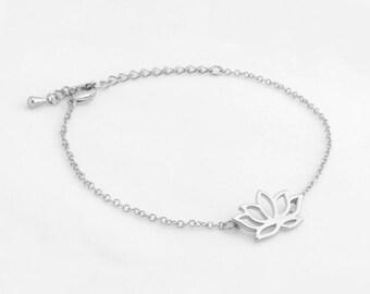 "Lotus Flower Bracelet ""Lotus"" silver"