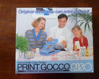 Print Gocco B6 HiMesh (High Resolution Prints) Printer and B6 Stamp by Riso (Used)