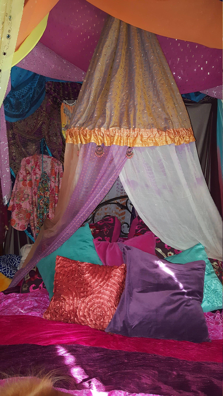 Bohemian Bed/Chair Canopy - Meditation Tent - Bohemian Tent - Silent Retreat - Festival - Garden - Gl&ing - Dorm - Study Nook & Bohemian Bed/Chair Canopy - Meditation Tent - Bohemian Tent ...