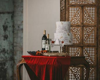 Velvet tablecloth | Velvet table runner | Velvet runner | holiday decor | Velvet Linens |  red table runner | ruby wedding decorations
