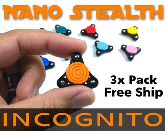 Fidget Spinner Mini Micro Nano Stealth Incognito Hand Toy - Edc - MADE IN USA - Non-toxic - Many Colors Choose any 3 - Free Shipping (Usa)