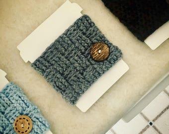 Handmade Crocheted Coffee Cup Cozy, size regular