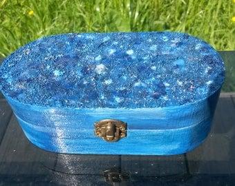 Jewellery Box, Oval Trinket Box, Mosaic, Keepsake Box, Eggshell,