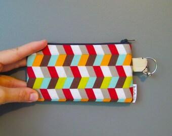 Geometric -Coin Purse - Zipper Coin Pouch - Cute Coin Purse - Change Wallet - Zipper Bag - Card Wallet- Birth control case- Gift Idea-