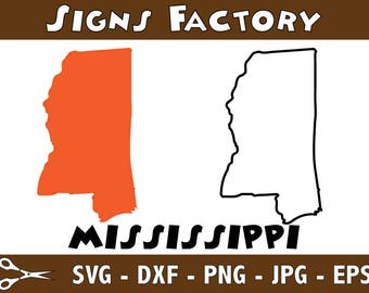 mississippi Vector, State Clipart, MS Clip Art, Mississippi SVG, State PNG studio cut file Silhouette Studio Cameo, Cricut Dxf Eps Png