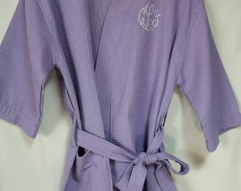 Waffle Weave Robes- Monogrammed Robe- Waffle Weave Robes for Mom, Wife or Someone Special-Available in 5 colors