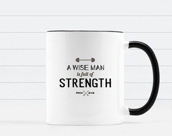 Father's Day Gift, Coffee Mug, Bible Verse Mug, Christian Mug, Inspirational Mug, Bible Mug, Pastor Gift, Men's Gift, Church Gift