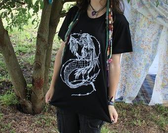 Mermaid of Death - black t-shirts