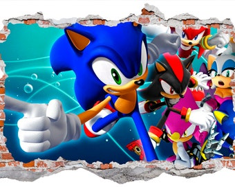 Sonic Smashed Wall Sticker Wall Decals
