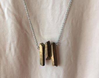 SALE Triple Stone Necklace/Trifecta Necklace/Healing Stone Necklace/Stone Healing Jewelry/Boho Jewelry/Boho Necklace/Point Stone Necklace