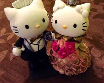 Bride and groom figures Hello Kitty