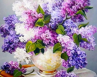 Beautiful hydrangea diamond painting, 3d painting, great hobby for kids and adults, diy kits, Free shipping! 3D Embroidery set Cross Stitch