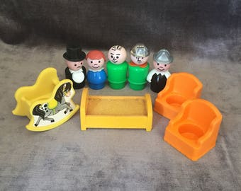 Vintage Fisher Price Little People bunch lot collection