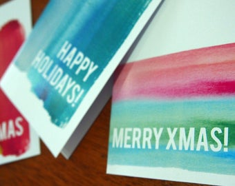 3 pack of Christmas cards - ink it up collection