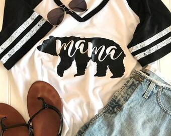 Mama Bear Shirt, mom Bear shirt, Mom Gift, Mothers Day Gift, Mama Shirt, Mom Shirt, Raglan Sleeve, California Bear Shirt, gift for mom