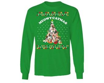 Meowy Catmas Christmas Style Sweater