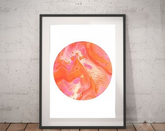 Abstract Fluid Art Print