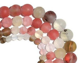 Stone Beads - Watermelon Color Combo - 65 pieces - 6mm - Bead Supplies