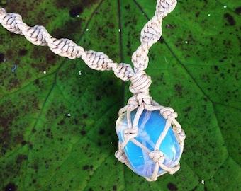 Opalite Macrame Necklace/ Opalite Pendant