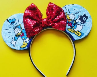 Donald Duck Mouse Ears    Mouse Ears    Donald Mouse Ears    Mouse Ears Headband    Mickey Mouse Ears