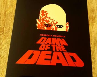 Dawn of the dead metal movie poster