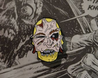 I Love Your Face - Soft Enamel Horror Pin Badge and mini comic.