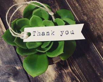 Thank You Product Tag~ Business Tag~ Wedding Tag ~ Custom Tag ~ Party Tag