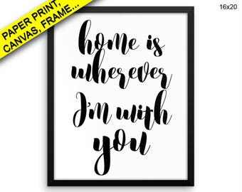 Home Canvas Art Home Printed Home Typography Art Home Typography Print Home Framed Art Home gift for husband gift for wife family sign