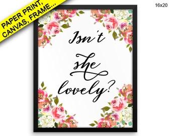 She Lovely Printed Poster She Lovely Framed She Lovely Nursery Art She Lovely Nursery Print She Lovely Canvas Printed Poster She Lovely Isnt
