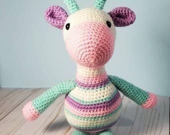 Crochet Giraffe | Amigurumi | Stuffed Animal Toy | Made-to-Order | Handmade