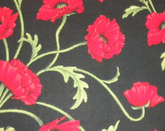 Fabric Traditions Patty Reed Black Poppy
