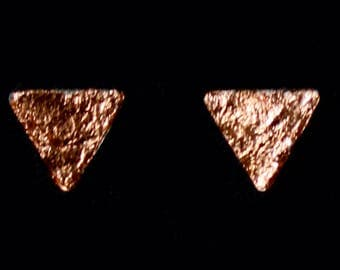 small triangle earring sheet copper stainless steel