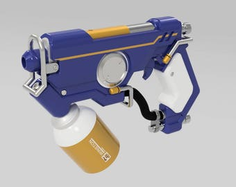 Tracer Tracemaker Pulse Pistol Overwatch Graffiti Skin  - (3D Files) STL Digital Download