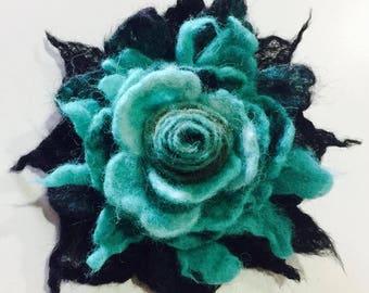 Handmade merino wool felted  Brooch